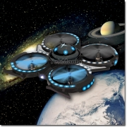 Waltersons™ Lyrian Nebulae Class Star Ship UFO